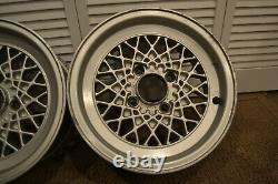 Ensemble De (2) Weds Mesh Wheels 14x6 4x114.3 Jdm Rims Rare Vintage 14 Paire Argent