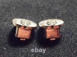 Georg Jensen Vtg Pair St Silver Floral Clip Earrings #113 Par Gundorph Albertus