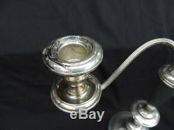 Gorham Sterling Bougeoirs Vintage Come-apart Domaine Candélabres Paire