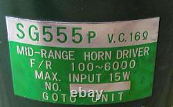 Goto Unit Sg555p Mid-range Horn Driver Pair 16 Haut-parleur Japon Usagé Vintage Rare