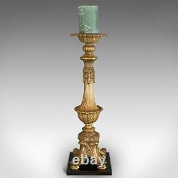 Grand, Paire De Vintage Bougeoirs, Asiatique, Gilt Métal, Décoratif Torchère