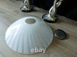 Italie Argentis MID Century Vintage Art Déco Argent Endrothine Sermaids Paire Lampes