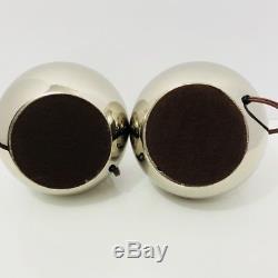 Laurel Paire De Lampes En Chrome MID Siècle Moderne Argent Vintage Lampe De Table Marquée