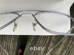 Lunettes De Soleil Vintage American Optical Aviator Sunglasses Trois Paires Cadres Silver Matte