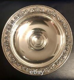 Magnifique Paire Vtg Sterling Silver Gorham Strasbourg Candlestick Holders&compote