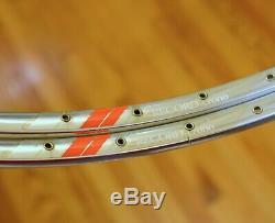Nos Campagnolo Record Crono Jantes Tubulaires 36h Vintage Paire