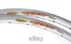 Nos Pair Janvettes Clincher Mavic Cxp33 Cxp 33 Argent 28 700 C 32h Années 2000 Millesime