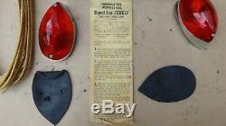 Nos Signal Stat Directionnel Clignotants Feux Paire Vintage Original Accessoires