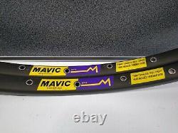 Nos Vintage Mavic Gp4 Tubular Rims (paire) 700c 36 Trous Marques De Stockage