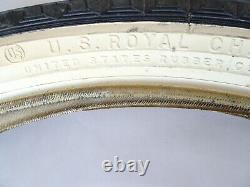 Pair Vintage Us Rubber 24 X 2.125 Avec W Bicycle Tires (usa) Nos Monark Silver Ring