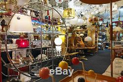 Paire 70 Vintage Wall Light Lamp Sconce Bath Vanity Verre German MID Century