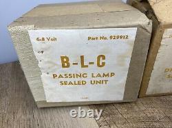 Paire D'ampoules De Phare Vintage Nos B-l-c Scellées Unité 6 Volts 929911