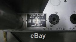 Paire D'appariement Vintage D'ampli De Puissance Western Western Électrique 124b / 124 Argent Rare