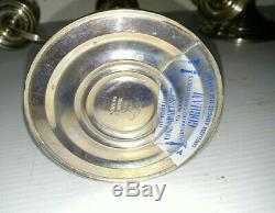 Paire D'argent Vintage Sterling Gorham 3 Lumières Candélabre Chandeliers