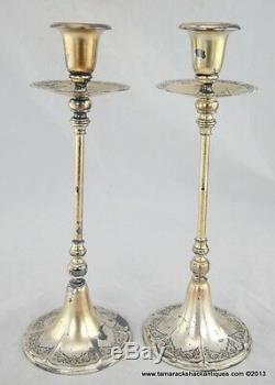 Paire De 2 Chandeliers Meriden International Francis I Design 12 Vintage