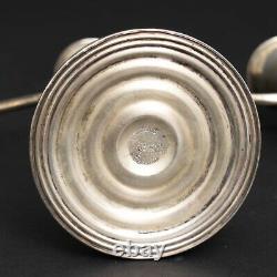 Paire De 2 Vintage Sterling Silver'duchin' 3-bâton Candélabres Bougeoirs