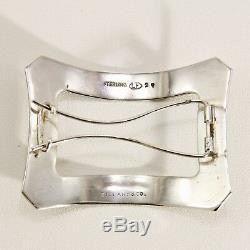Paire De Barrettes En Argent Sterling Vintage Art Deco Tiffany & Co.