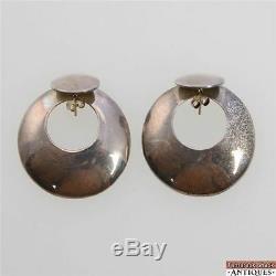 Paire De Boucles D'oreilles À Tige En Argent Sterling Vintage Taxco Tcm-09 Mexique 925