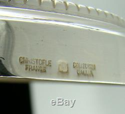 Paire De Bougeoirs Chandeliers À 2 Lumières Perles Vintage De Christofle En Métal Argenté