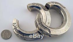 Paire De Bracelets Akha En Argent (thaïlande) / Vintage Hill Tribe