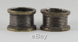 Paire De Bracelets Banjara En Laiton Et Argent / Vintage Gujarat