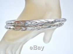 Paire De Bracelets En Argent Sterling Diamant Taillé Mexicain 925 Bijoux Vintage