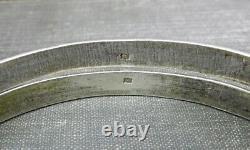 Paire De Bracelets Vintage En Argent Art Déco Motif Bracelets