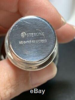 Paire De Bras Candelabra International En Argent Sterling Bougeoirs Twist Vintage