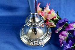 Paire De Candélabres À 3 Lumières Plaquées Argent Vintage Goldfeder Silver Co.