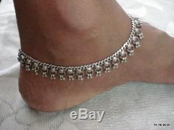 Paire De Chaîne De Cheville Bracelet Bracelet Cheville Vintage Argent Ancien Antique Tribal