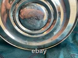 Paire De Chandeliers Sterling Silver Vintage Pondérés Gorham 3 Arm # 808/1