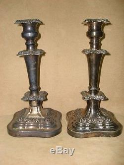 Paire De Chandeliers Vintage En Argent Massif Poinçonné