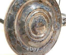 Paire De Chandeliers Vintage Gorham Silver Candelabra 3 Bougie/lumière 12.5 Tall