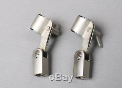 Paire De Clips Akg Sa18 / 3 Argent Vintage Pour Microphone C414 Eb B-uls