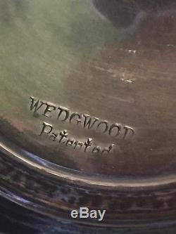 Paire De Compotes Vintage International Wedgwood T47 En Argent Sterling