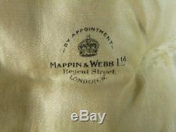 Paire De Condiments Mappin & Webb En Argent Sterling D'époque