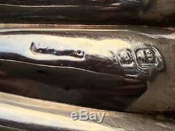 Paire De Coquilles De Coquilles De Palourdes Poinçonnées Vintage En Argent Sterling