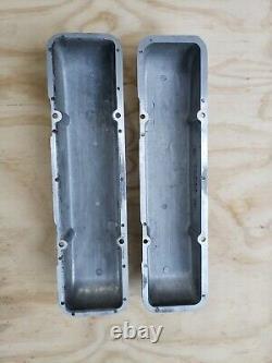 Paire De Couvercle De Valve Sbc Cal Custom Small Block Chevy 40-2000 Aluminium Vintage