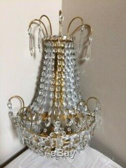 Paire De Cristal Européenne 3 Ampoule Vintage Applique Murale Luminaires