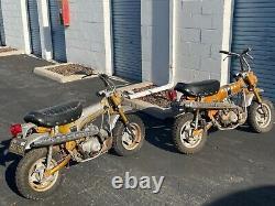 Paire De Deux Vintage 1969 Honda Ct70 Étiquettes D'argent Barn Find Condition