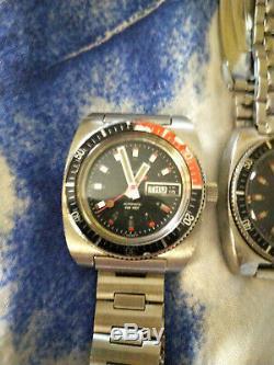 Paire De Divers Caravelle Automatic 1974 Avec Double Date