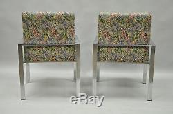 Paire De Fauteuils Lounge En Aluminium Harvey Probber Attr En Métal Vtg, Milieu Du Siècle Moderne