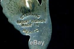 Paire De Grand Vintage Mexicain D'argent Buttonshubert Harmon Winged Handssigned