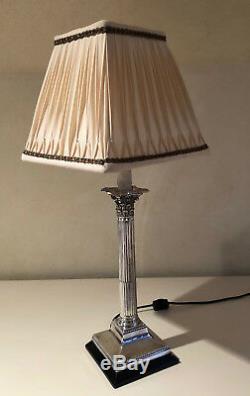 Paire De Lampes De Chandelier D'argent Vintage