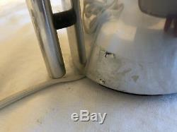 Paire De Lampes Moitié Nelson Vintage / 2 En Aluminium Chromé George Nelson Pour Koch & Lowy