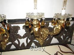 Paire De Lampes Murales Vintage, Candélabres Anges Chérubins