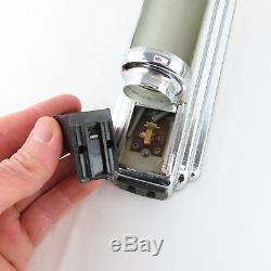 Paire De Luminaires De Vanité 14.5 Vtg Fluorescents Art Deco, Chrome