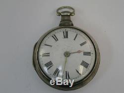 Paire De Montres Vintage Fuse Montre De Poche Lawson Bradford Silver Case 49mm Londres