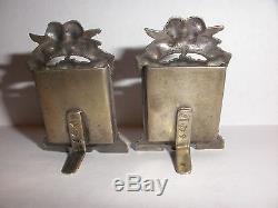 Paire De Montures Vintage En Argent Miniature, Italie 800, Argent, Chérubin, Ange Putti