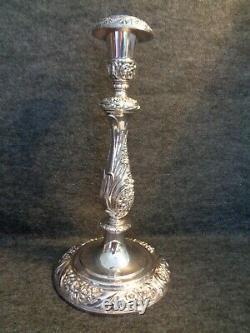 Paire De Porte-chandelles Vintage Plaqués Argent Heritage 1847 Rogers Bros